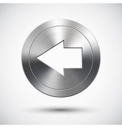Chrome left button vector image