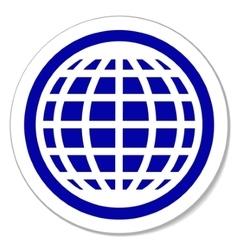 Globe round sticker vector image vector image
