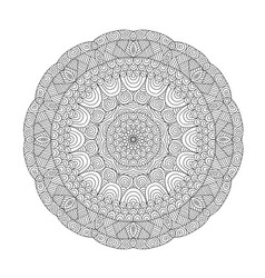 mandala coloring book for adults vector image vector image