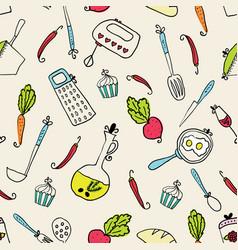 Pattern of kitchen utensils design elements of vector