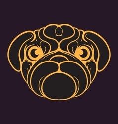 Pug Dog logo vector image