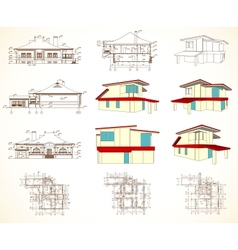Set architectural objects vector image vector image