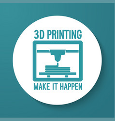 3d printing flat icon vector image