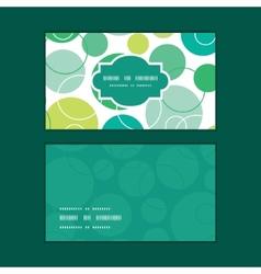 abstract green circles horizontal frame vector image