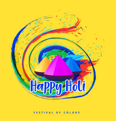 abstract happy holi festival greeting vector image