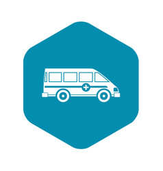 ambulance emergency van icon simple style vector image