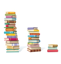 book stacks vector image vector image