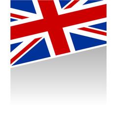 British flag banner background vector