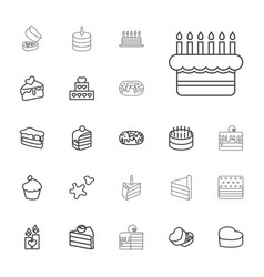 Cake icons vector