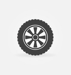 car wheel icon or design element vector image