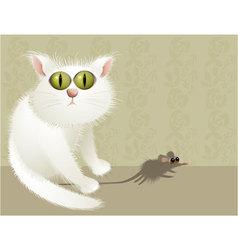 Cat hunter vector image