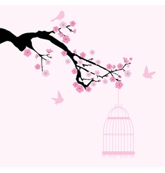 cherry cage vector image