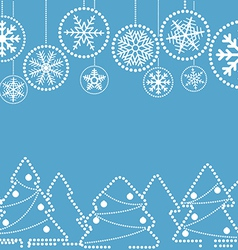 Christmas greeting card with abstract baubles vector image