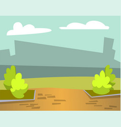 cityscape city with park bushes and greenery vector image