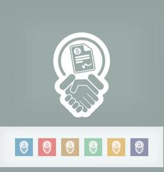 Conciliation payment icon vector