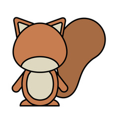 cute chipmunk woodland animal vector image