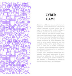 cyber game line pattern concept vector image