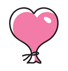 Decorative heart balloon vector