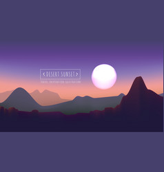 desert sunset vector image