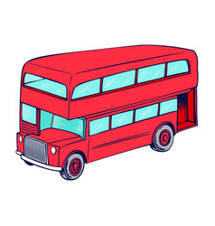 Double decker red bus vector