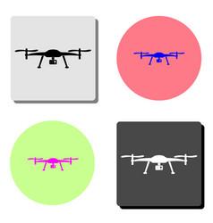 drone aerial camera flat icon vector image