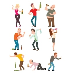 Drunk people vector image