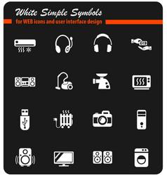 electronics supermarket white icon set vector image