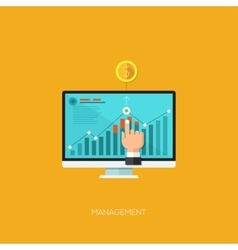 Flat design concept for mobile vector