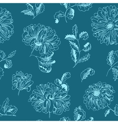 Floral minimalistic seamless pattern vector