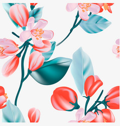 floral pattern print small tiny rose botanical vector image