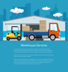 Flyer of warehouse and delivery services vector