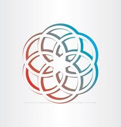 geometric star symbol design vector image