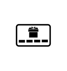 gift card present flat icon vector image