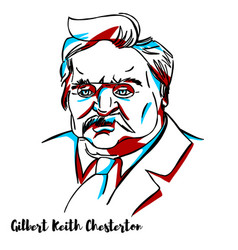 Gilbert keith chesterton portrait vector