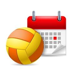 Golf ball and calendar vector
