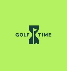 Golf time logo vector