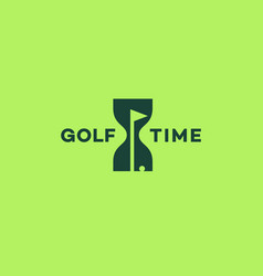 golf time logo vector image