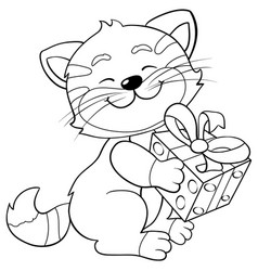 Greeting card gift joy eps 10 vector