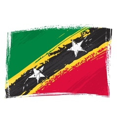 grunge saint kitts and nevis flag vector image
