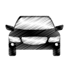 Hand drawing driverless car icon vector