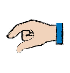 Hand man business gesture icon vector