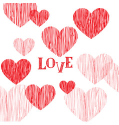 happy valentines day greeting card love heart vector image