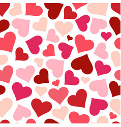 Hearts seamless pattern background red heart vector
