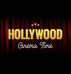 Hollywood sign postcard california vector