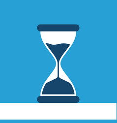 hourglass on blue background vector image