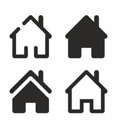 house icon home web sign vector image