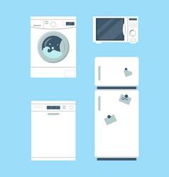 Household appliances set vector