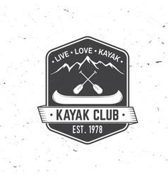 kayak club live love kayak vector image