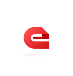letter e logo on white alphabet background vector image