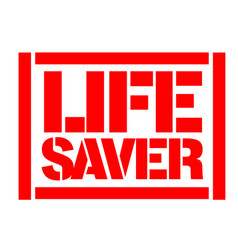 Life saver typographic stamp vector